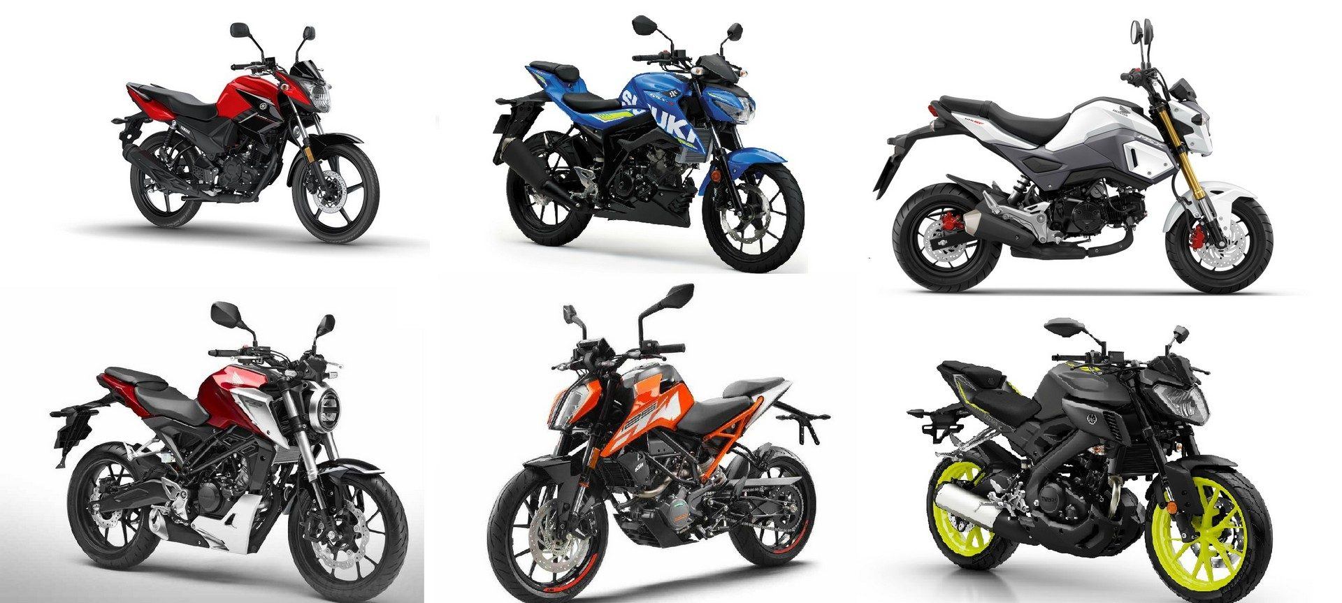 Las mejores motos naked de 125