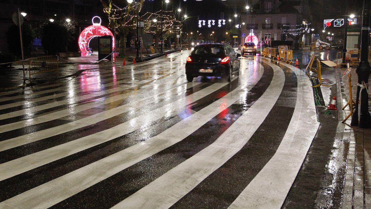 Ideal para las motos: un paso de peatones de 40 metros en curva