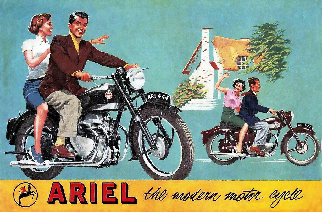 Moto del día: Ariel Square Four