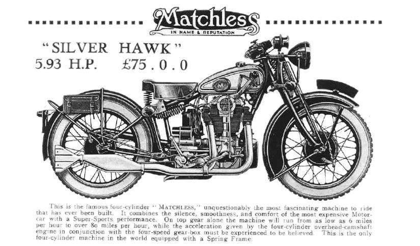 Matchless Silver Hawk 1931 Catalogo