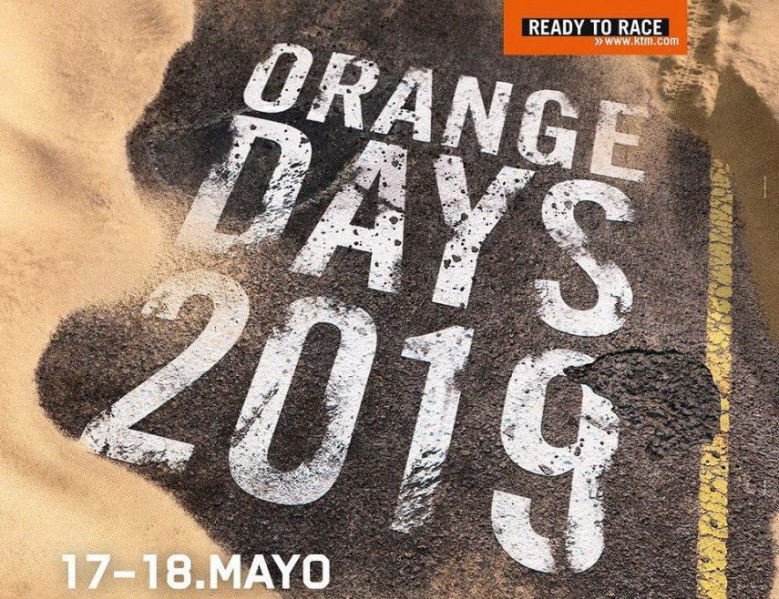 Los KTM Orange Days de 2019 serán el 17 y 18 de mayo