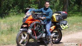 Pedro a Mongolia espirituRACER moto 01