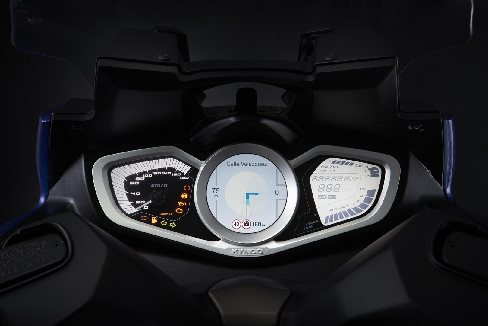 Xciting S 400 Detalle Azul 1