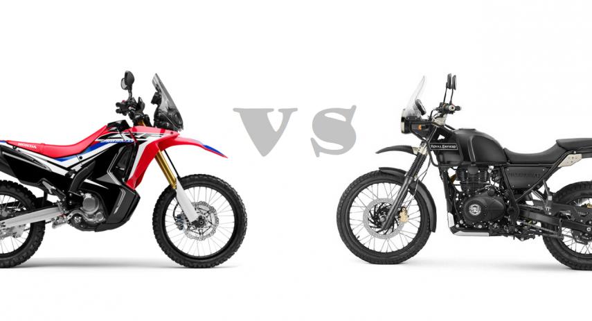 himalayan vs CRF 250 Rally