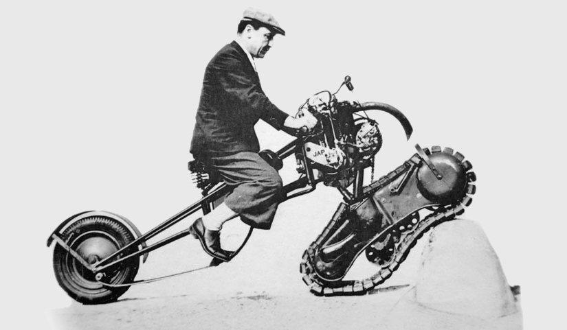 """Moto del día: Mercier Tipo 3 """"Moto Chenille"""" 350"""