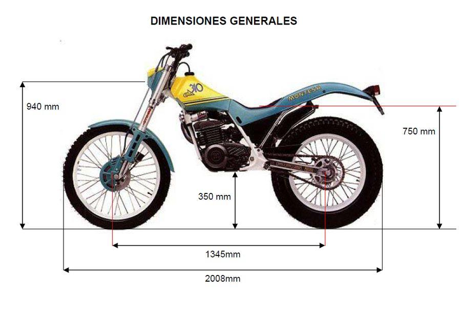 Montesa Cota 310 Dimensiones