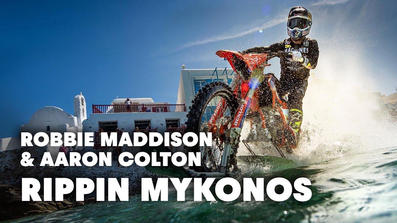 Robbie Maddison y Aaron Colton se divierten en Mykonos