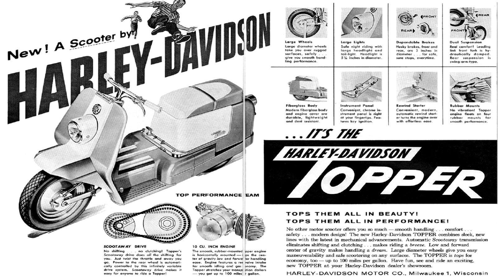 Harley Davidson Topper scooter 2 png