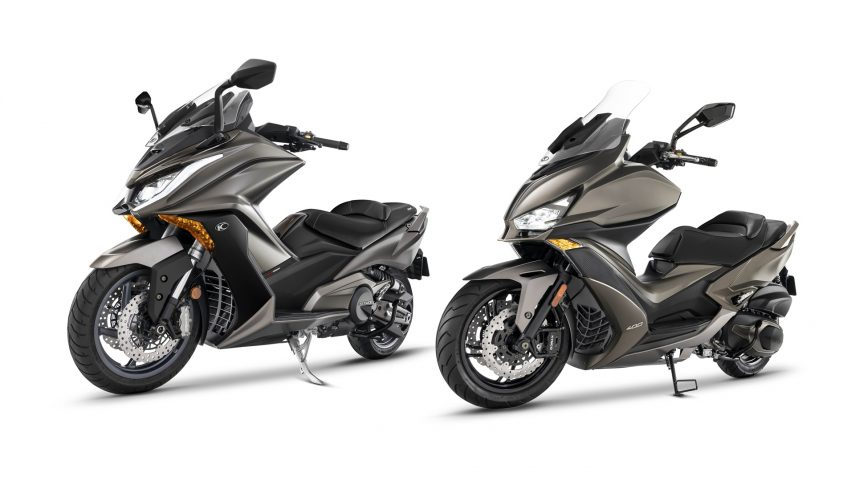 Nuevos KYMCO AK 550 y Xciting S 400 en un exclusivo color marrón