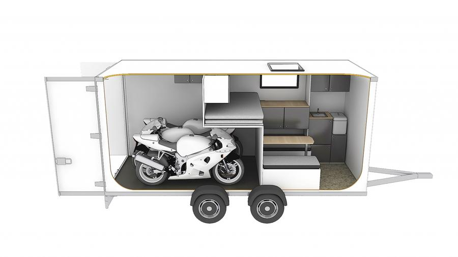 SportsCaravan: con las motos, el taller y la cama a cuestas
