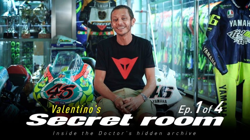 Valentino Rossi abre las puertas de su habitación secreta