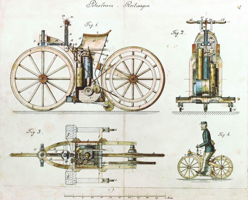 Daimler Reitwagen 1885 DE patent