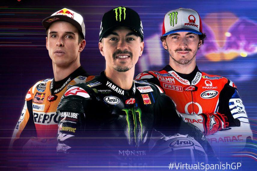 Rodrigo, Baldassarri y Viñales ganan en el Gran Premio virtual de España