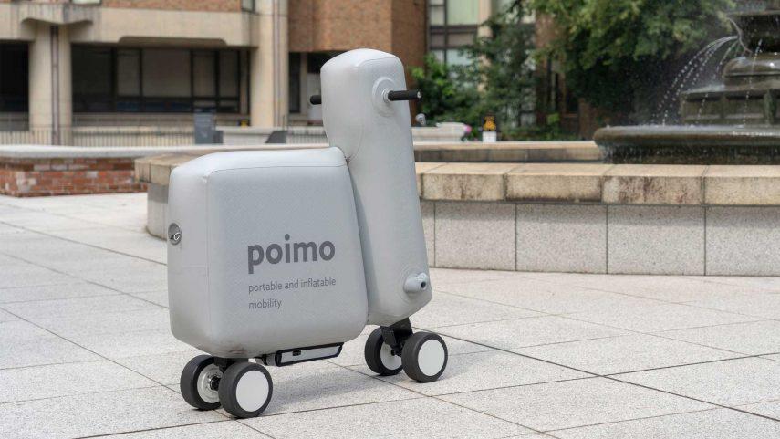 POIMO, el scooter eléctrico hinchable que te puedes llevar donde quieras