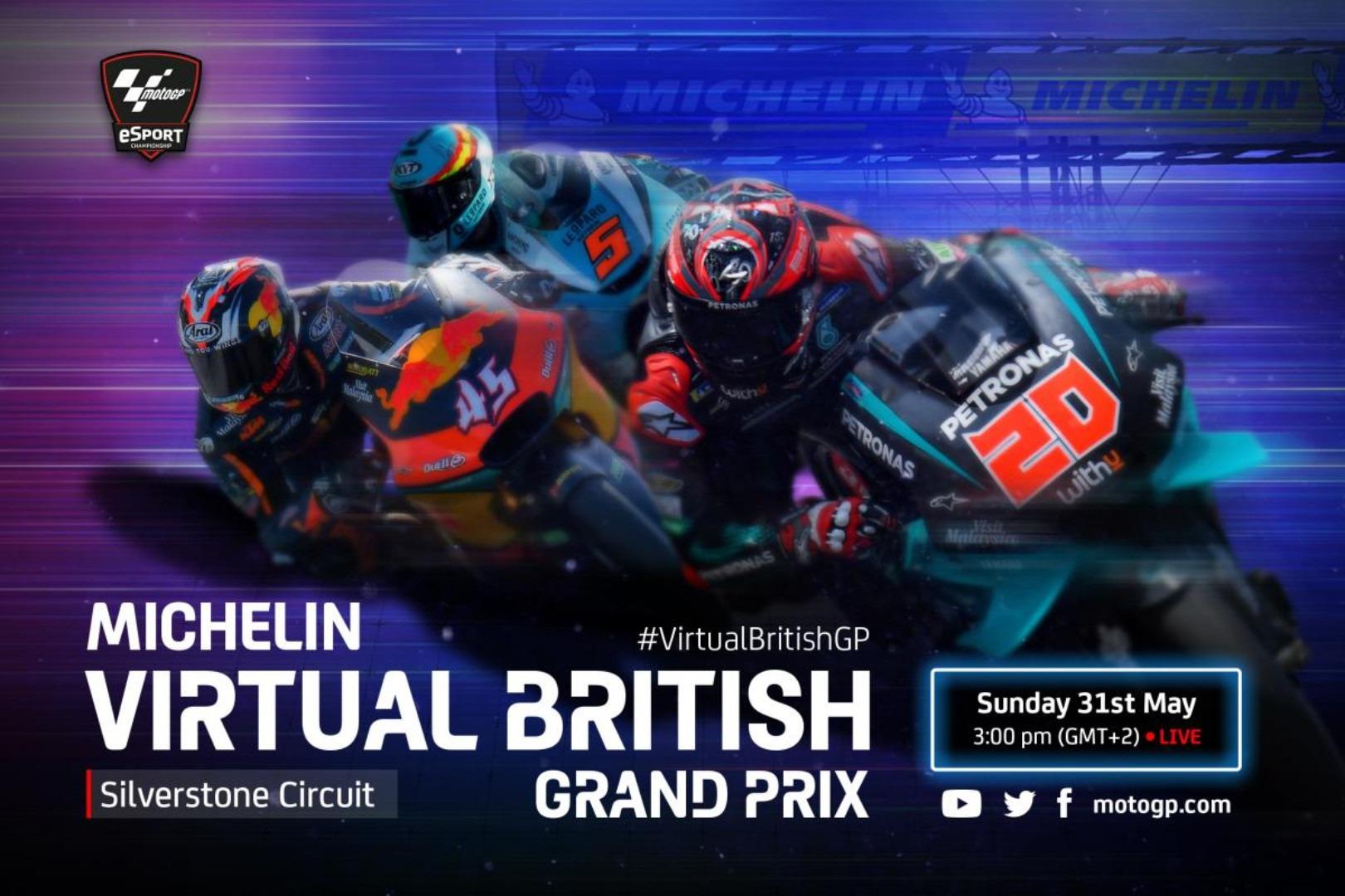 Moto2 y Moto3 vuelven en el Gran Premio virtual de Gran Bretaña