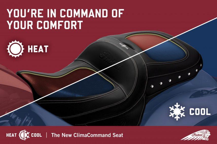 ClimaCommand Classic Seat, el asiento de Indian que te refrigera las posaderas