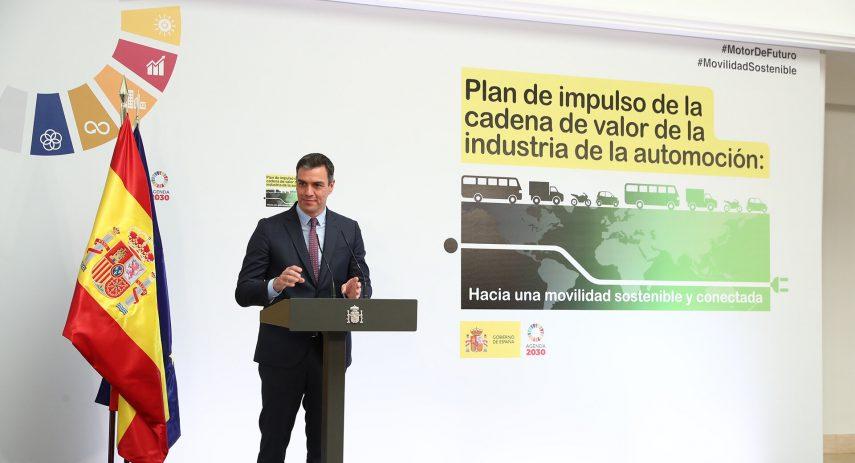 Pedro Sanchez presenta plan de automocion 2020