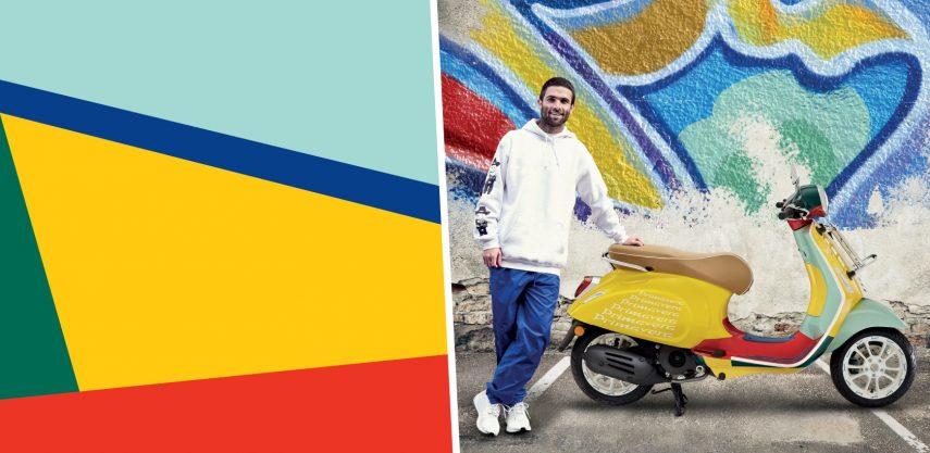 Vespa Primavera Sean Wotherspoon, cultura urbana colorista