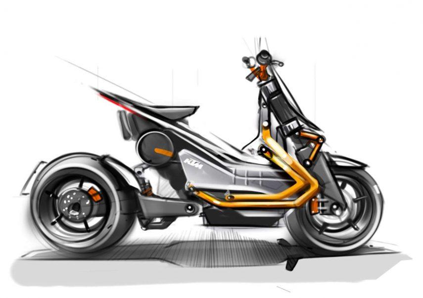 KTM E-Speed: el boceto del scooter eléctrico austriaco