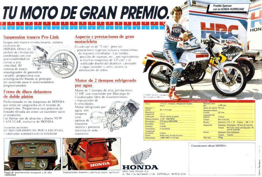Honda MBX 75 Hurricane 3