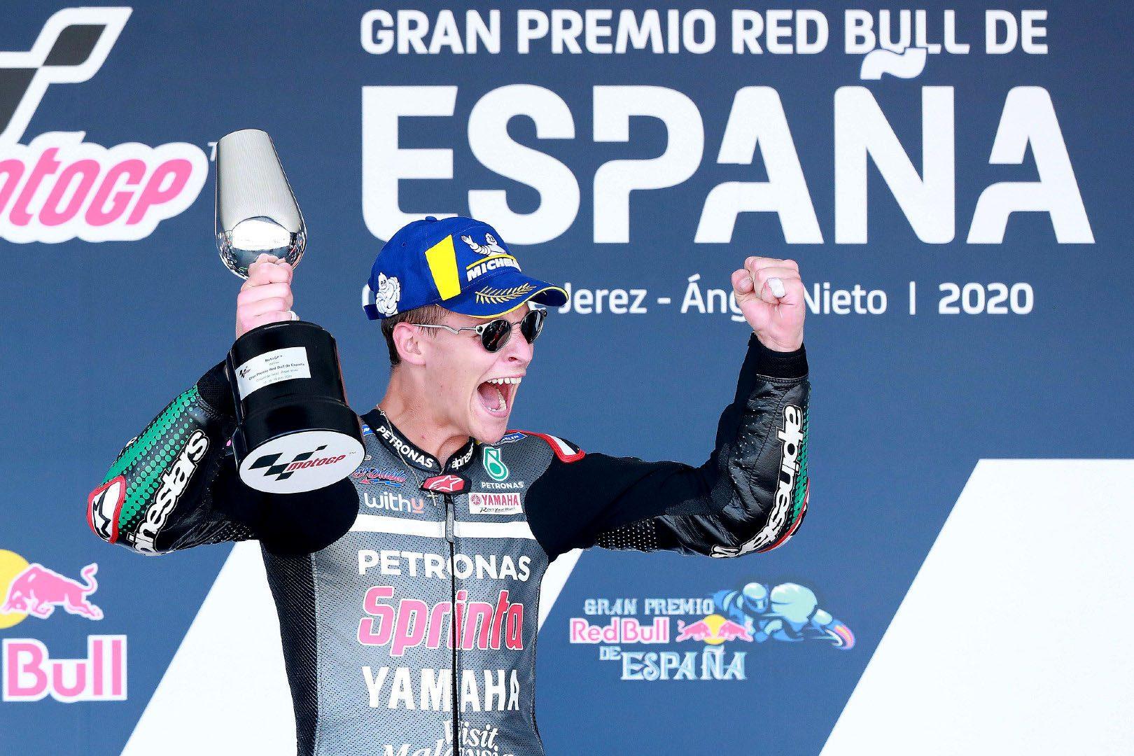 Quartararo, Marini, Arenas y Granado se llevan la victoria en Jerez
