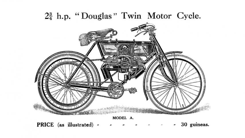 Moto del día: Douglas Model A 2¾ HP