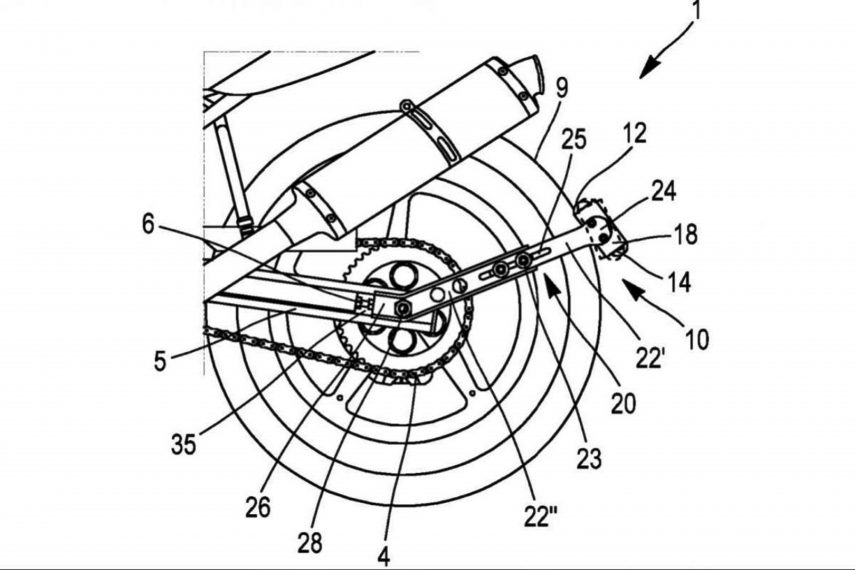 La patente de Michelin que ayuda a mover la moto en parado