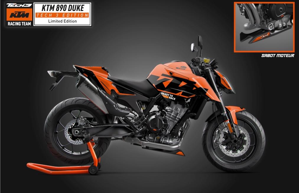 KTM 890 Duke Tech3 Limited Edition, inspirada en las MotoGP