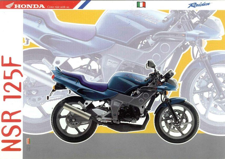 Honda Raiden NSR F 92 Raiden azzurro volantino